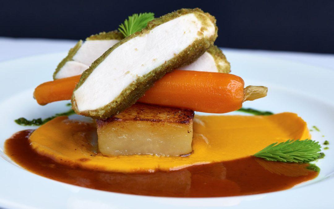Herb Crumb Chicken with Fondant Potato